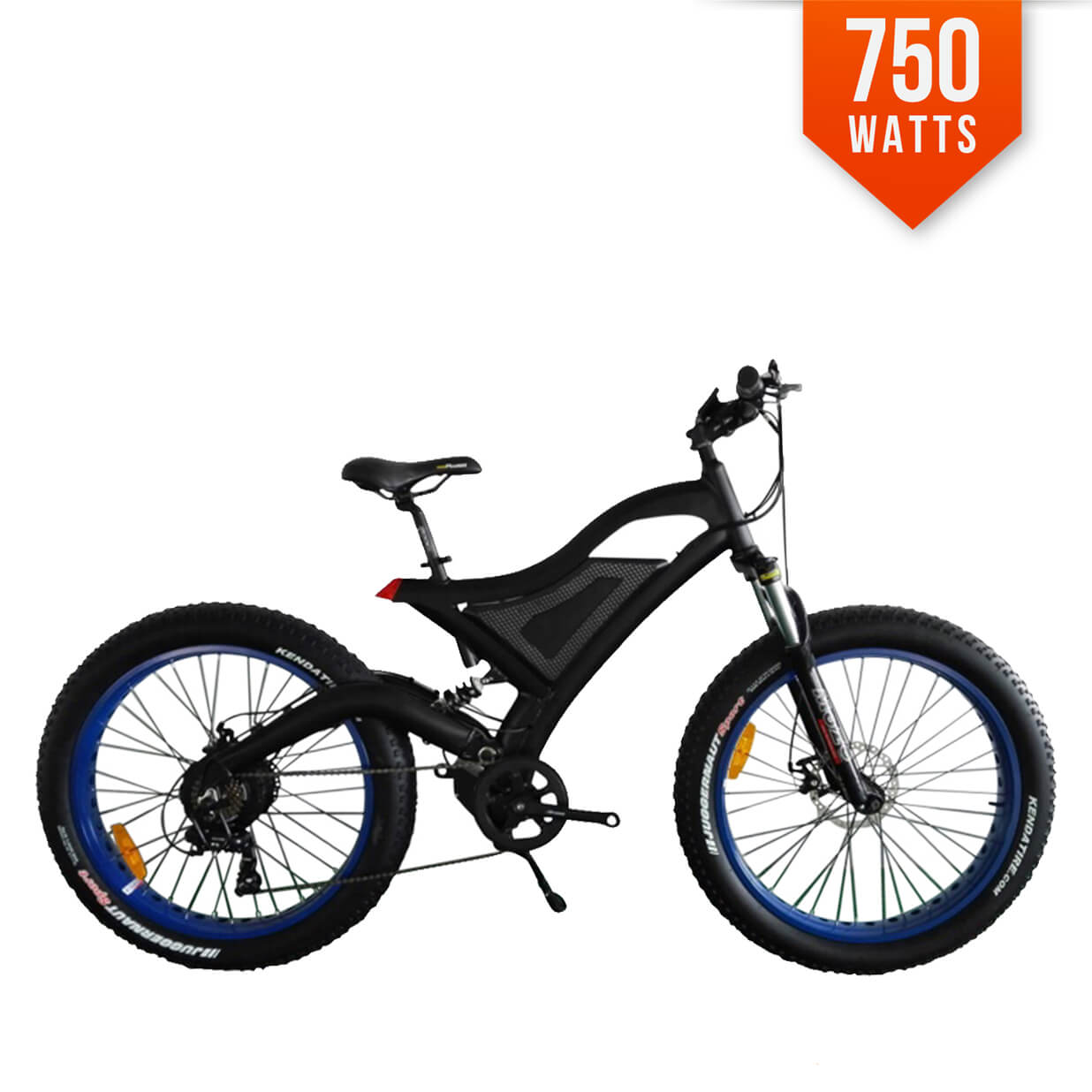 ac807a8a38b F-35 750W Black Frame Fat Tire Electric Bike Bicycle