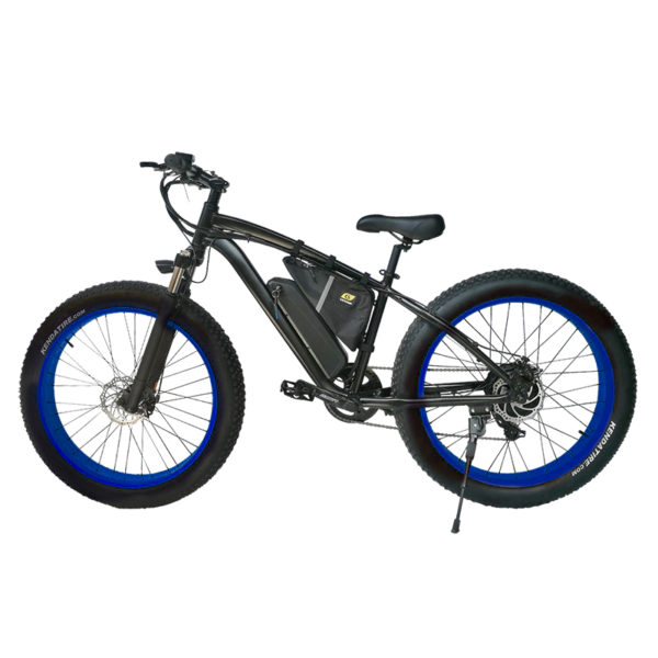 Black Frame Blue Rim F25s 750 Watt BPM Imports Bike1