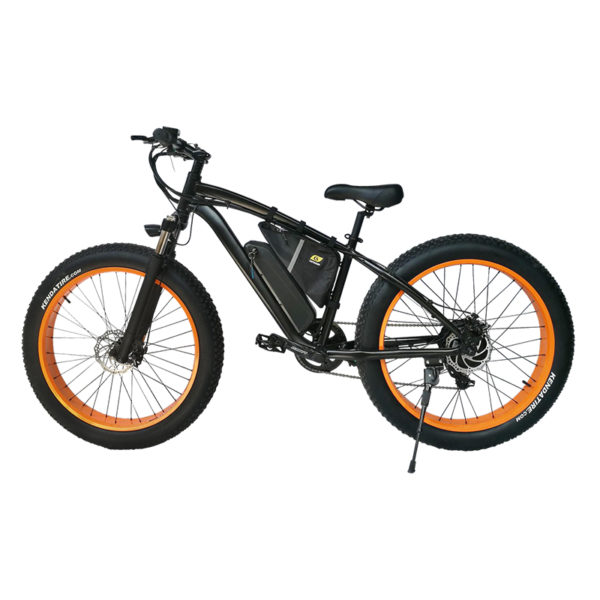 Black Frame Orange Rim F25s 750 Watt BPM Imports Bike