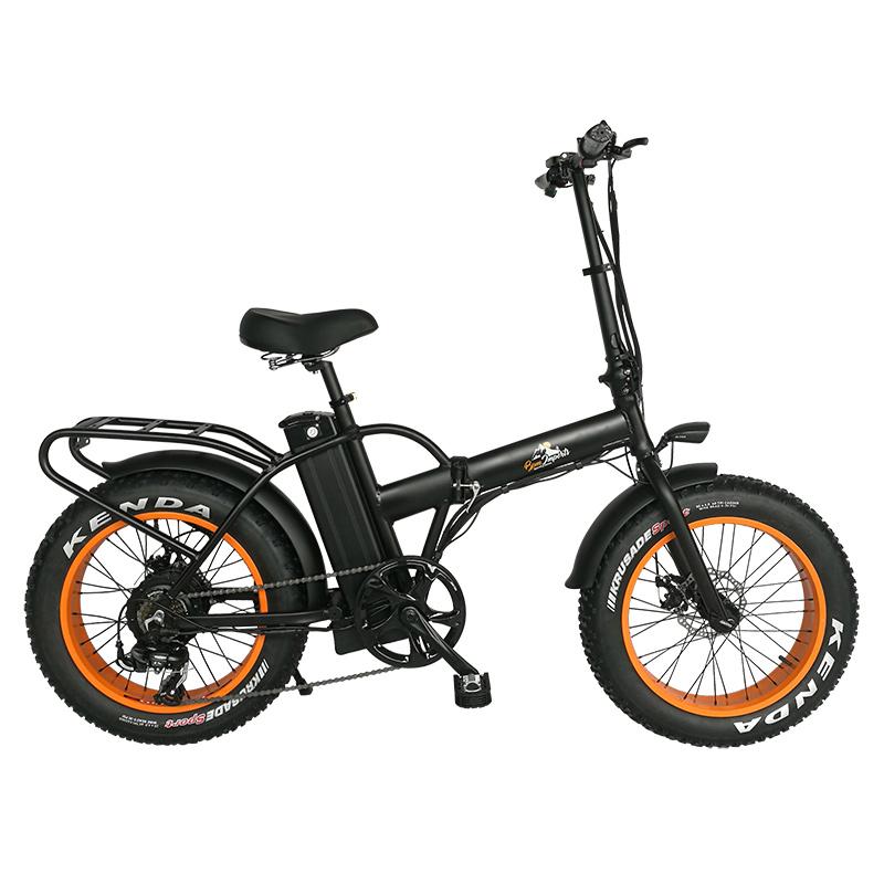 Electric Fat Bike >> F 15x 750w Black Frame Fat Tire Folding Electric Bike With Rack 20