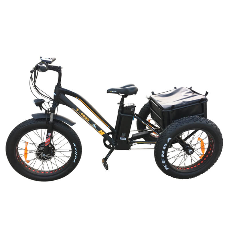 T-950b (750W) Electric Fat Tire Tricycle With Rear Storage – 1x24